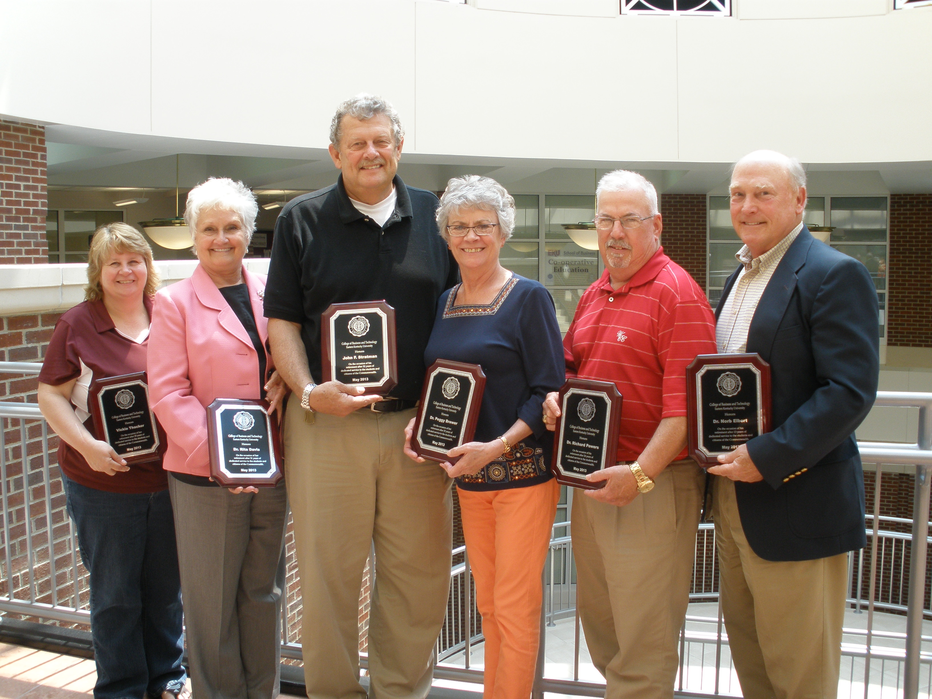 CBT Retirees Recognized | College of Business and ...
